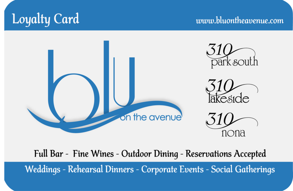 blu Loyalty Card